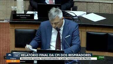 CPI dos Respiradores: relatório final pede impeachment de Carlos Moisés - CPI dos Respiradores: relatório final pede impeachment de Carlos Moisés