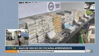 Polícia apreende 300 quilos de cocaína - Dez pessoas foram presas em Paranaguá