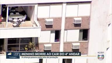 Menino morre ao cair de quarto andar em Belo Horizonte - A criança passou pela tela de proteção de uma janela de casa.