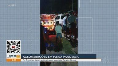 Aglomerações com som alto descumprem decretos em municípios do Amapá - Situação foram registradas em Macapá e Ferreira Gomes. Grandes concentrações de pessoas em espaços públicos, com bebida e crianças, tem preocupado órgãos de fiscalização.