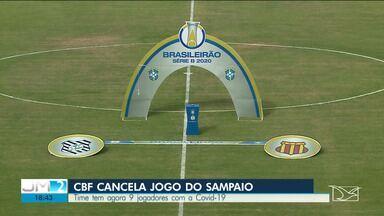 CPF adia partida entre Sampaio e Figueirense após jogadores contraírem o novo coronavírus - Nove jogadores do time maranhense foram diagnosticados com a doença.