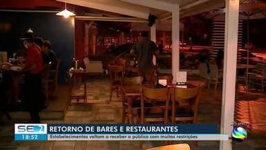 Bares e restaurantes reabrem em Sergipe - Bares e restaurantes reabrem em Sergipe.