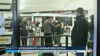 Fundação de Ação Social de Curitiba intensifica atendimento a moradores nesse inverno - 800 pessoas foram acolhidas nos abrigos da prefeitura na capital.