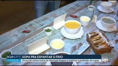 Restaurantes triplicam a produção de sopas em Maringá - O consumo de sopas e caldos aumentou na cidade com a chegada do frio.