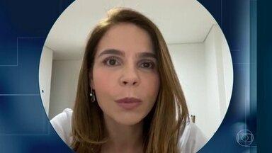 """'Apesar da exaustão, a gente está trabalhando com muita união', diz médica intensivista - Letícia Jorge, de São Paulo, foi infectada pela Covid-19 e disse que só pensava em voltar ao trabalho para ajudar seus colegas e os pacientes. Ela também ressalta que """"as UTIs estão com uma complexidade"""" que ela nunca tinha visto antes."""