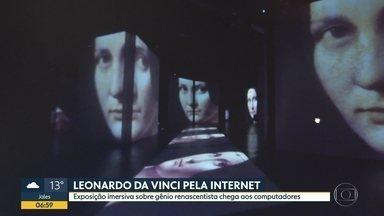Exposição de Leonardo da Vinci pela internet - Mostra imersiva sobre o gênio renascentista chega aos computadores.