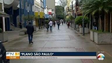 Nova Alta Paulista regride e todo o Oeste Paulista fica na fase laranja do Plano SP - Governo do Estado fez nova atualização nesta sexta-feira (21).