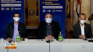 Secretário de Saúde de PE pede colaboração de comerciantes na prevenção da Covid-19 - Ele preocupado com as aglomerações, ele disse que, se não houver cooperação, os estabelecimentos podem ser fechados novamente.