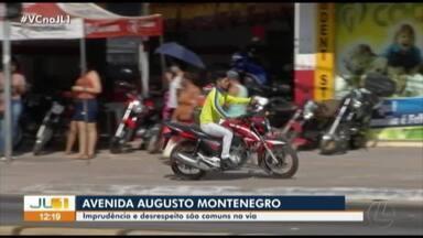 Condutores e pedestres protagonizam um show de imprudências na avenida Augusto Montenegro - Condutores e pedestres protagonizam um show de imprudências na avenida Augusto Montenegro
