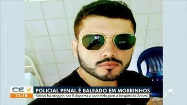 Policial é baleado com cinco disparos em Morrinhos, no Norte do Ceará - Saiba mais em g1.com.br/ce