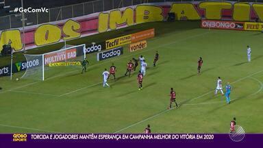 Torcedores do Vitória mantêm esperança em temporada melhor em 2020 - Após empate em 0 a 0 com o Náutico, Rubro-Negro é o 8º da tabela da Série B