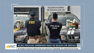 Ação policial apreende mais de 40 quilos de droga no interior do Acre - Ação policial apreende mais de 40 quilos de droga no interior do Acre