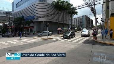 Motoristas de carros de passeio devem ficar atentos a restrições de tráfego na Boa Vista - Avenida Conde da Boa Vista passou por reformas e ganhará fiscalização eletrônica