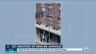 Joinville volta a ter neve depois de sete anos - Joinville volta a ter neve depois de sete anos