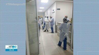 Hospital Estadual de Campanha recebe primeiros pacientes - Hospital Estadual de Campanha recebe primeiros pacientes