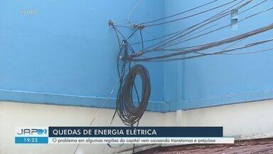 Quedas constantes de eletricidade danifica eletrônicos e eleva riscos de acidentes no AP - Consumidores, principalmente da Zona Norte de Macapá, lamentam as interrupções diárias no serviço.