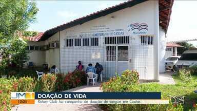 Rotary Club faz campanha para a doação de sangue em Caxias - Objetivo é aumentar o estoque do banco de sangue na cidade.