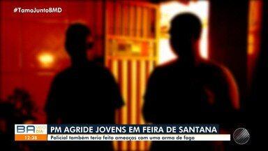 Jovem e mãe relatam agressão provocada por PM fora de serviço; Agente chegou a sacar arma - Caso aconteceu na cidade de Feira de Santana, a 100 Km de Salvador.
