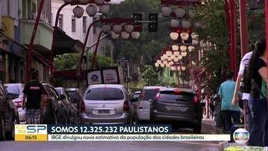 Somos 12.325.232 paulistanos - IBGE divulgou nova estimativa da população das cidades brasileiras.