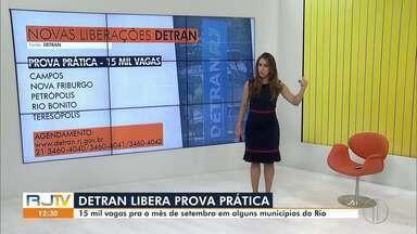 Detran RJ abre 15 mil vagas para exames práticos de habilitação - No interior do Rio, as provas podem ser realizadas em Campos dos Goytacazes, Nova Friburgo, Petrópolis, Rio Bonito e Teresópolis.