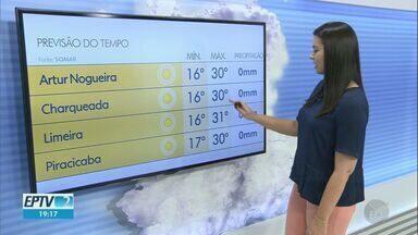Região de Campinas terá terça-feira (31) de sol, diz meteorologia - Área de alta pressão atmosférica atrapalha a formação de nuvens de chuva na região.