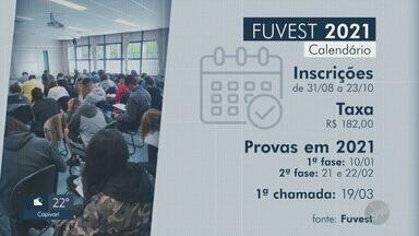 Inscrições para a Fuvest começam nesta segunda (31) e seguem até 23 de outubro - Candidatos que não solicitaram a isenção devem pagar uma taxa de R$ 182.