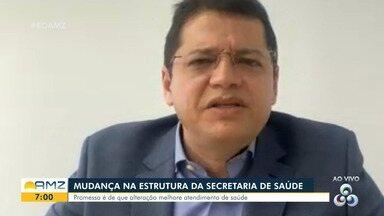 Amazonas: Saiba o que muda com a restruturação da secretaria de Saúde - Promessa é de que alteração melhore atendimentos.