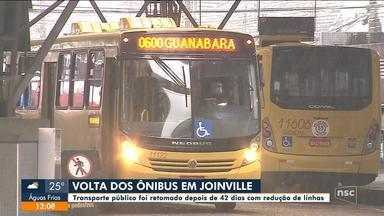 Volta dos ônibus em Joinville tem redução de linhas com prioridade no horário de pico - Volta dos ônibus em Joinville tem redução de linhas com prioridade no horário de pico
