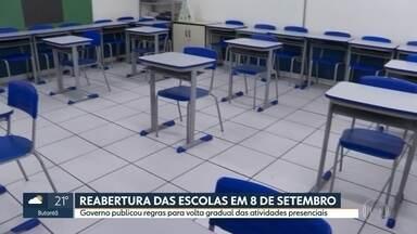 Escolas estaduais podem reabrir terça (8),mas só para atividades complementares - Governo publicou regras para volta gradual das atividades presenciais.