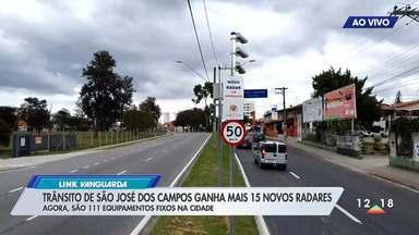 Trânsito de São José dos Campos ganha mais 15 novos radares - Agora são 11 equipamentos fixos na cidade.