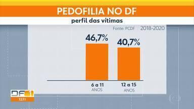 Levantamento da Polícia Civil fez mapeamento de casos de pedofilia no DF - A maior parte dos casos ocorre quando a vítima está em casa.
