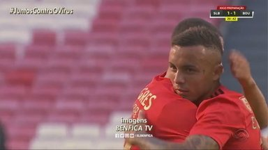 Everton marca o primeiro gol pelo Benfica em jogo amistoso - Assista ao vídeo.
