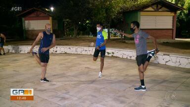 Atletas da APA retomam os treinos, após pausa por causa da Covid-19 - A equipe está tendo que se acostumar aos protocolos de segurança.
