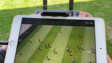 Atlético usa tecnologia aérea nos treinos na Cidade do Galo - Técnico Jorge Sampaoli estuda os jogadores pelo alto