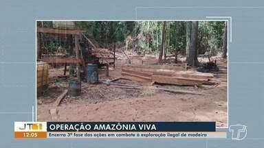 3ª fase da operação 'Amazônia Viva' embarga mais de 12 mil hc em quatro municípios do PA - Ações de combate a crimes ambientais, inclusive de extração ilegal de madeira, iniciaram no dia 19 dia agosto.