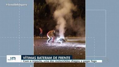 Duas mulheres morrem em acidente de moto em rodovia de Itumbiara - Motos bateram de frente e, com impacto, uma chegou a pegar fogo.