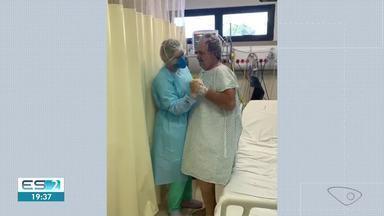 Paciente supera a Covid-19 e chama a fisioterapeuta para dançar no ES - Confira na reportagem.