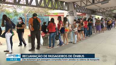 Passageiros reclamam que passagens foram zeradas no sistema em Campina Grande - Veja os detalhes na reportagem de Felipe Valentim.