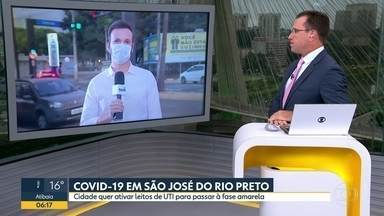 São José do Rio Preto quer ativar mais leitos de UTI para passar à fase amarela - Taxa de ocupação alta dos pacientes de Covid-19 impede progressão do relaxamento da quarentena.