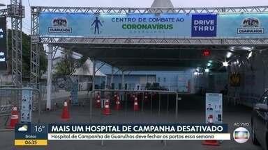 Prefeitura de Guarulhos vai desativar Hospital de Campanha - Hospital foi montado no Parque Cecap e começou a operar no início de abril