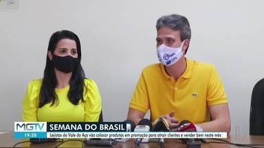 Lojistas do Vale do Aço realizam campanha para aquecer as vendas do comércio - Semana do Brasil começa a partir de quinta-feira.