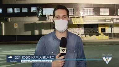 Santos enfrenta o Vasco pelo Brasileirão nesta quarta - Times se enfrentam na Vila Belmiro.