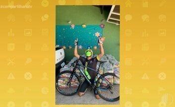 Para arrecadar cestas,ultramaratonista vai de bike até Foz do Iguaçu - Confira!!