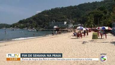 Praias de Angra dos Reis estão liberadas para moradores e turistas - Expectativa é de aumento de turistas no litoral com o feriado prolongado.