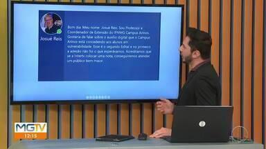 Confira as mensagens enviadas pelos telespectadores (Parte 1) - Telespectadores enviam mensagens, fotos e vídeos para o MG1.