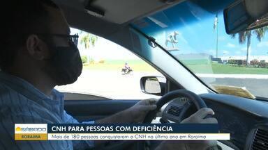 Em Roraima, mais de 180 pessoas com deficiência conquistam habilitação - Dados são do último ano.