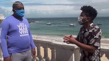 Lucas Almeida faz um alerta sobre a quantidade de lixo jogado no mar - Lucas Almeida faz um alerta sobre a quantidade de lixo jogado no mar