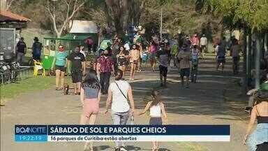 Movimento nos parques de Curitiba foi grande neste sábado (5) - 16 parques da capital estão abertos para os visitantes.