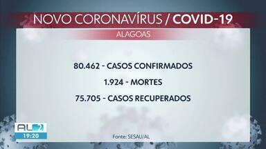 Alagoas registra mais 359 casos e sete mortes por Covid-19 - Estado tem 3.739 casos suspeitos.