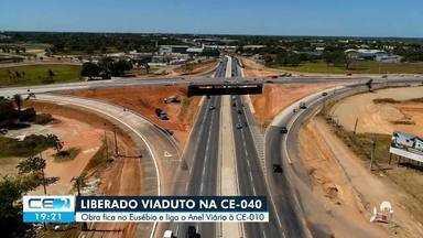 Viaduto que vai ligar a CE 010 ao anel viário foi entregue hoje - Saiba mais em: g1.com.br/ce